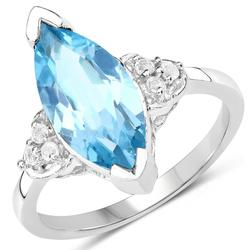 Stunning Swiss Blue Topaz Cocktail Ring
