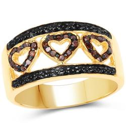 Beautiful 14kt/SS Diamond Band Ring
