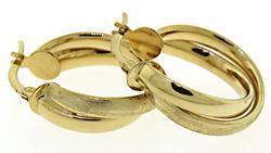 Gold 2 Tone Hoop Earrings