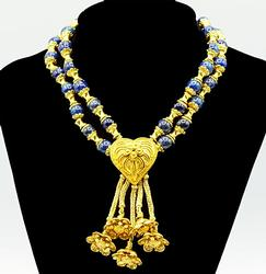 22kt Yellow Gold Lapis Lazuli Zolotas Necklace