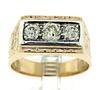 Vintage Gent's Diamond 3 Stone Ring