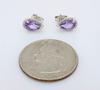 Pear Shaped Amethyst and Diamond Earrings