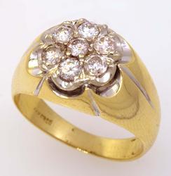 Amazing Diamond Cluster Ring, Size 10.75