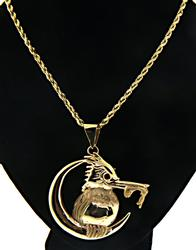 Bird Eating a Fish Pendant Necklace