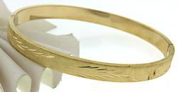 Florentine Texture Bangle Bracelet