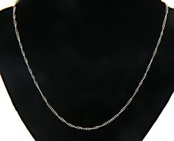 Double Twist Beaded Chain Necklace