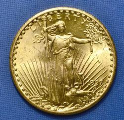 BU 1927 $20 Double Eagle
