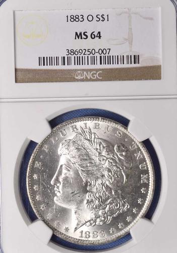 Blazing MS64 1883-O Morgan Dollar, NGC