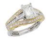 Vintage Inspired Emerald Cut Diamond Ring
