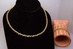 Matching Vermeil Necklace and Bracelet
