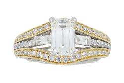 Vintage Inspired Emerald Cut Diamond Ring