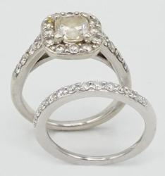 14KT White Gold Near Colorless Diamond Engagement Ring