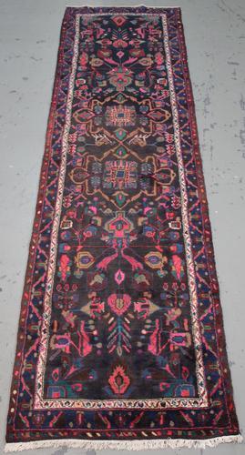 Handmade Semi Antique Persian Hamadan 3.3x12.6