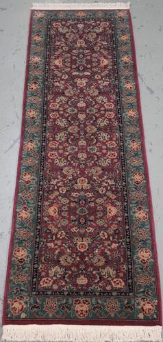 Handmade Wool/Silk Tabriz Design Runner 2.3x8