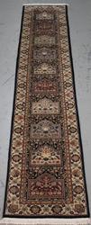 Handmade Wool/Silk Tabriz Design Runner 2.3x12