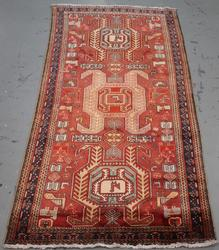 Extremely Rare Semi Antique Persian Ardabil 4.9x10.3