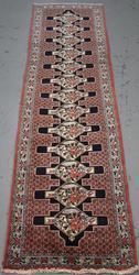 Handmade Persian Bidjar Runner 3.0x12.5