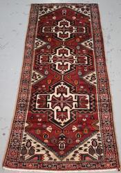 Handmade Semi Antique Persian Heriz 3.7x9.7