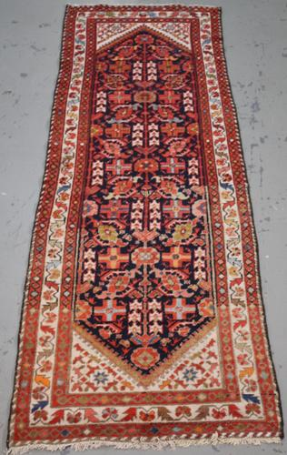 Handmade Semi Antique Persian Malayer 3.2x9.11