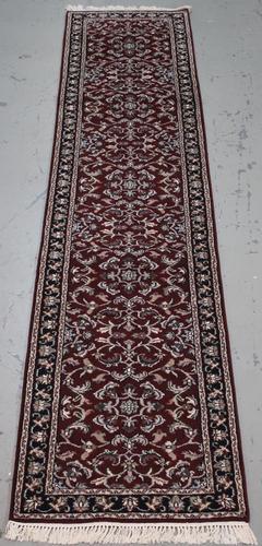 Handmade Indo Kashan Design Runner 2.8x11.11