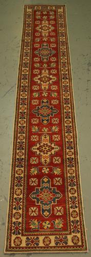 Handmade Pakistani Kazak Design Runner 2.3x13.2