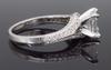 18K White Gold GIA Certified Emerald Cut Ring