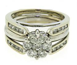 Gorgeous White Gold 7 Stone Diamond Ring