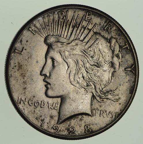 1928 Peace Silver Dollar - Circulated