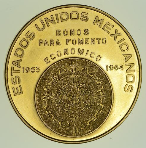 1963 Mexico Bonos Para Fomento Economico - Gold Coin - Circulated