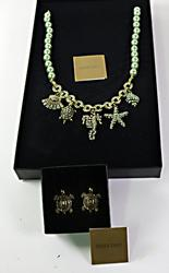 Heidi Daus Sea Life Necklace and Earrings