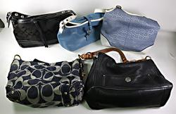 Lot of 5 Coach Handbags