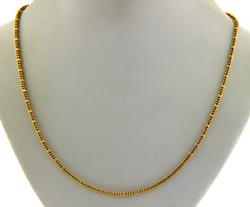 Nice 22kt Beaded Chain Necklace