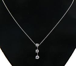 Lovely 0.90ct Diamond Pendant Necklace