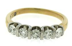 Amazing 1ctw Leo Cut Diamond Band Ring