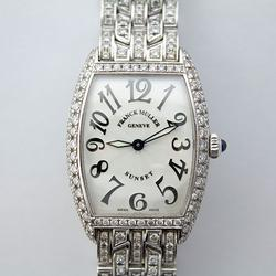 Stunning 18Kt White Gold Frank Mueller Sunset W/ Diamonds