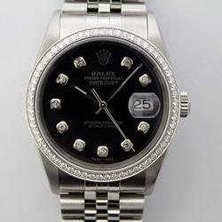 Stainless Steel Rolex Datejust With Diamonds