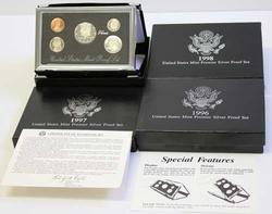 1996 1997 1998 Premier Silver US Proof Sets