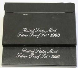 1993 1996 US Silver Proof Sets