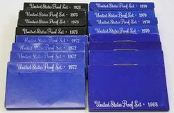 4 Each US Proof Sets 1968 1970 1972 and 1973