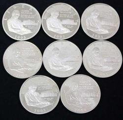 8 Madison 1993 Bill of Rights Comm Halves Proof and unc