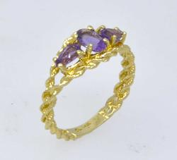 Unique Amethyst Ring in Gold, Size 5.75