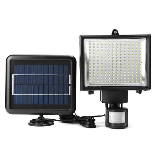 196 LED Solar Powered Motion Sensor Wall Light Outdoor