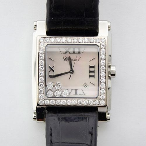 Stainless Steel Chopard Happy Sport With Diamonds