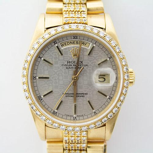 18Kt Rolex Presidential With Diamonds Throughout