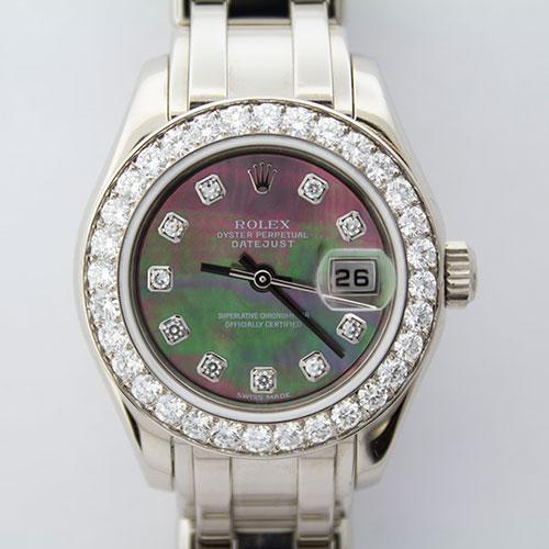 Ladies 18Kt White Gold Diamond Rolex Masterpiece