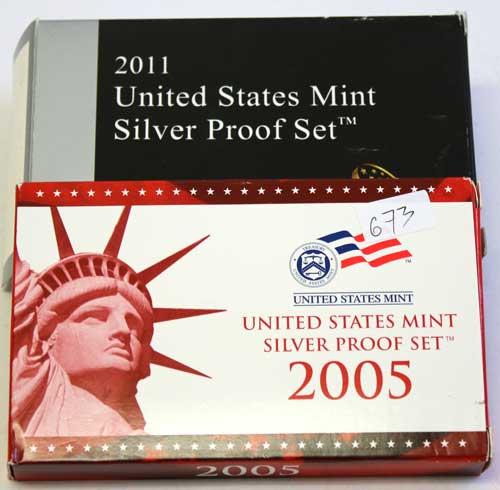 US Silver Proof Sets 2005 &2011