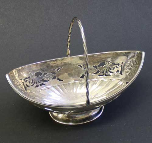 Georgian Sterling Silver Basket circa 1780 -90