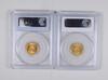 Lot (2) MS62 1905 & MS63 1903 $2.50 Liberty Gold Quarter Eagles PCGS