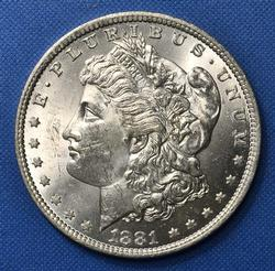 BU 1881-O Morgan Silver $
