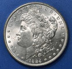 BU 1884 Morgan Silver $